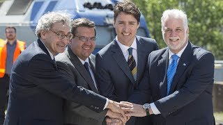 Prime Minister Justin Trudeau confirmed Thursday the federal government will put $1.28 billion towards a major Montreal rail project. Mayor Denis Coderre calls the project the ?most important? since the city?s subway was built. (The Canadian Press)