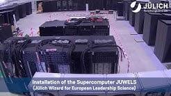 Zeitraffervideo des Aufbaus unseres Supercomputers JUWELS
