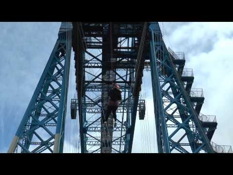 Middlesbrough Transporter Bridge Charity Abseil for Butterwick Hospice.
