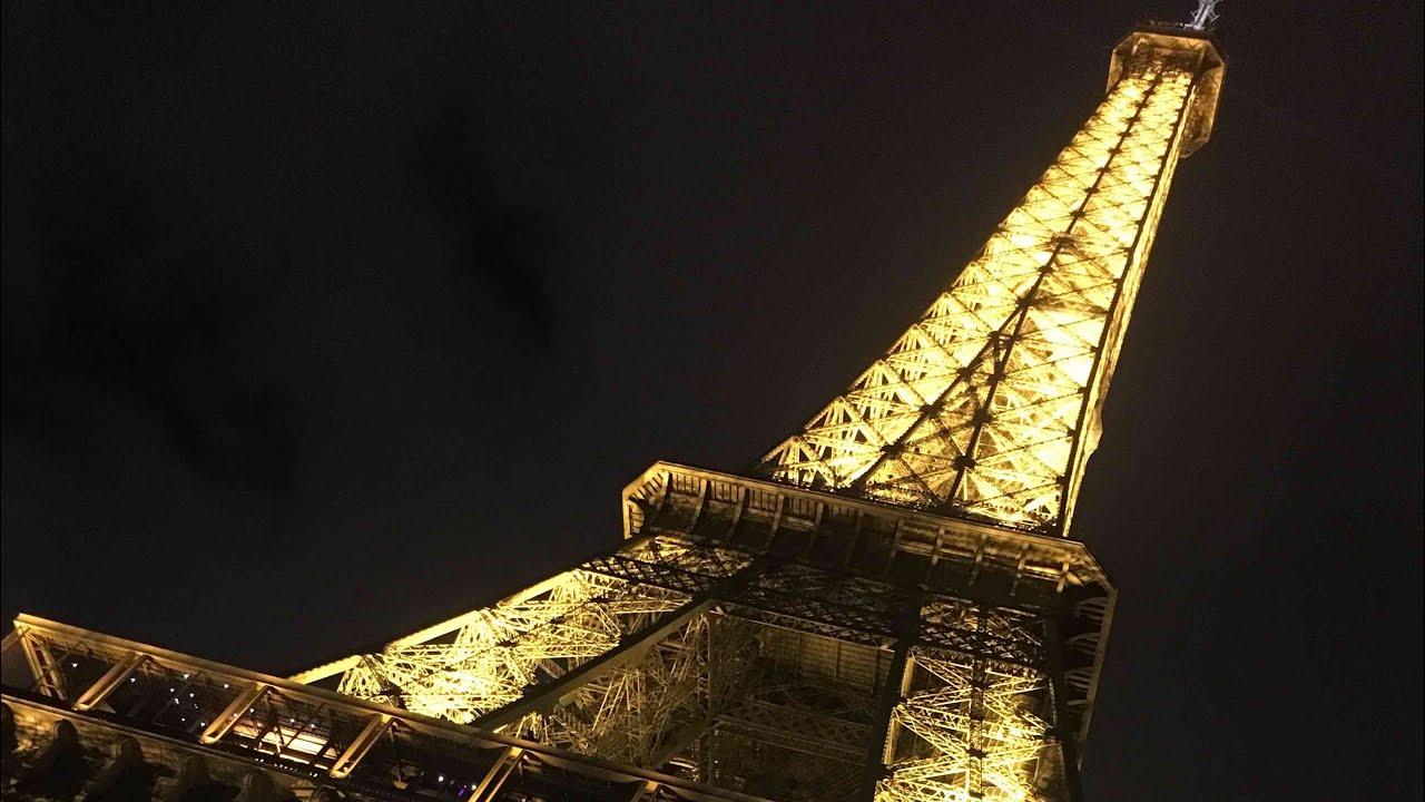 eiffel tower sparkling lights youtube