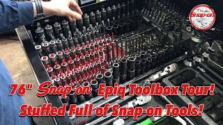 "An Epic 76"" Snap-on Epiq Toolbox Tour Stuffed With Snap-on Tools - MUST WATCH!!"