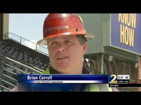 Iconic Turner Field sign removed from former Braves Stadium