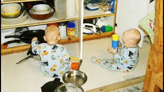 Twins Baby Playing And Making Trouble In The Kitchen || Best Babies Compilation