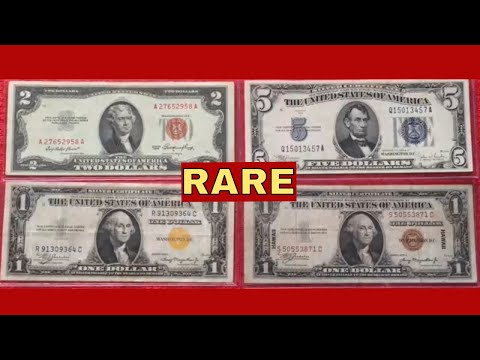 Rare Money To Look For - Red Seal, Hawaii, North Africa, Blue Seal Silver Certificates And More!!