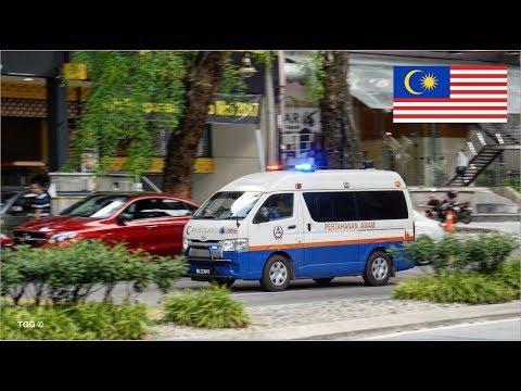 [Kuala Lumpur] Malaysia Civil Defence Ambulance Responding | Pertahanan Awam Malaysia (Ambulans)