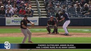 Jabari Blash's power on full display in spring training
