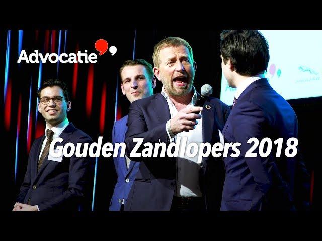 Harm Edens tijdens de uitreiking van de winnaars Gouden Zandlopers 2018