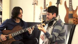 Letter From Home (Pat Metheny) on violin and bass guitar