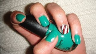 Holiday Nail Tutorial (candy cane accent nail) Thumbnail