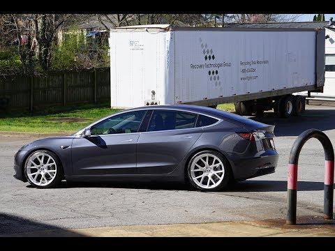 Butler Tire Modified 2018 Tesla Model 3 x Vossen VFS-6 Wheels