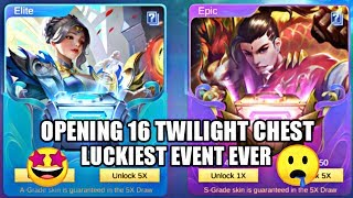 OPENING 16 TWILIGHT CHEST • MOBILE LEGENDS SUMMER GALA EVENT • MOBILE LEGENDS FREE SKIN