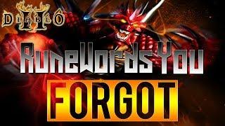 Forgotten Runewords in Diablo 2