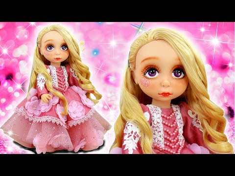 AURORA PRINCESS DRESS UP AND MAKEUP FOR ROYAL PARTY 💄👗 Disney Doll Cartoons & Crafts