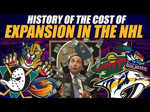 The History of the Cost of Expansion in the NHL