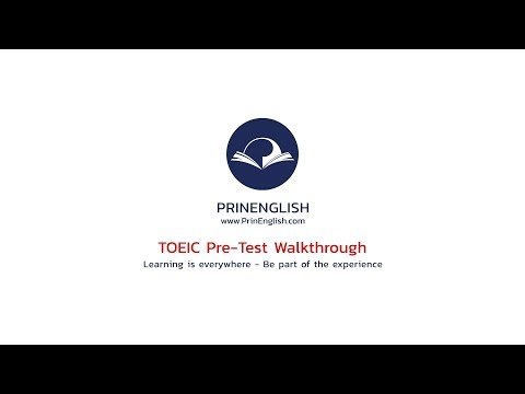 เฉลย-อธิบาย TOEIC Pre-Test ทุกข้อ อย่างละเอียด - PrinEnglish.com