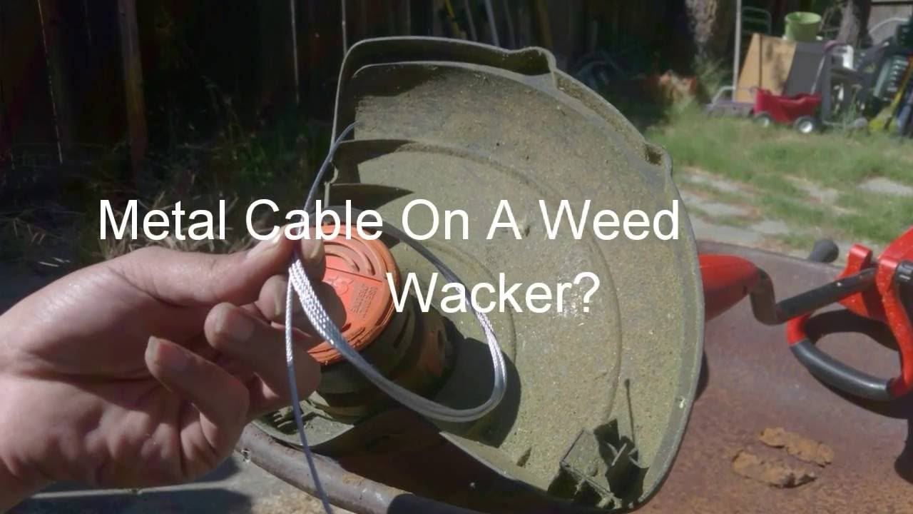 Metal Line In A Weed Wacker Youtube