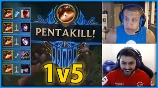 LoL Highlights Pro Players Montage - League of Legends (Yassuo, Tyler1, Pentakill, 1v5, Outplays...)