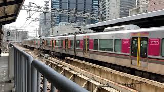 大阪環状線323系60周年普通西九条・大阪方面行き発着シーン