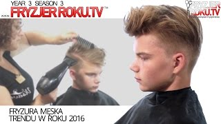 Fryzura męska trendu w roku 2017. FryzjerRoku.tv