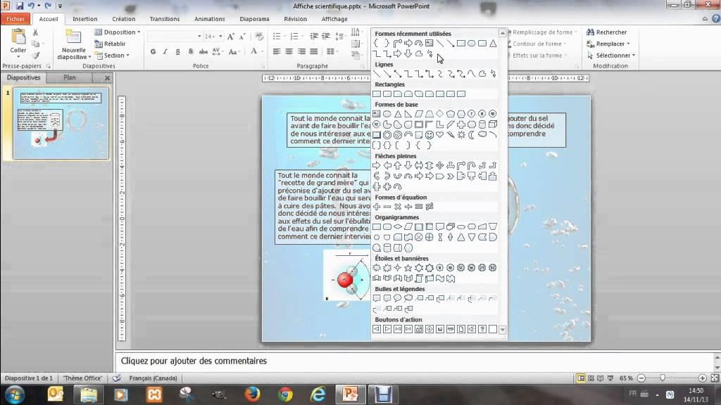 cr u00e9er une affiche avec powerpoint 4 outil de dessin