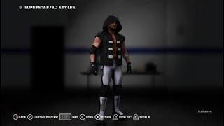 AJ Styles Wrestlemania 34 Kıyafetleri Nasıl 2K18 WWE.
