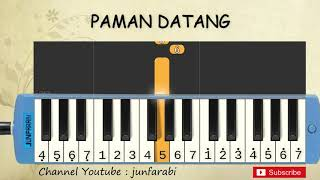 not pianika kemarin paman datang - tutorial belajar pianika lagu anak - not angka