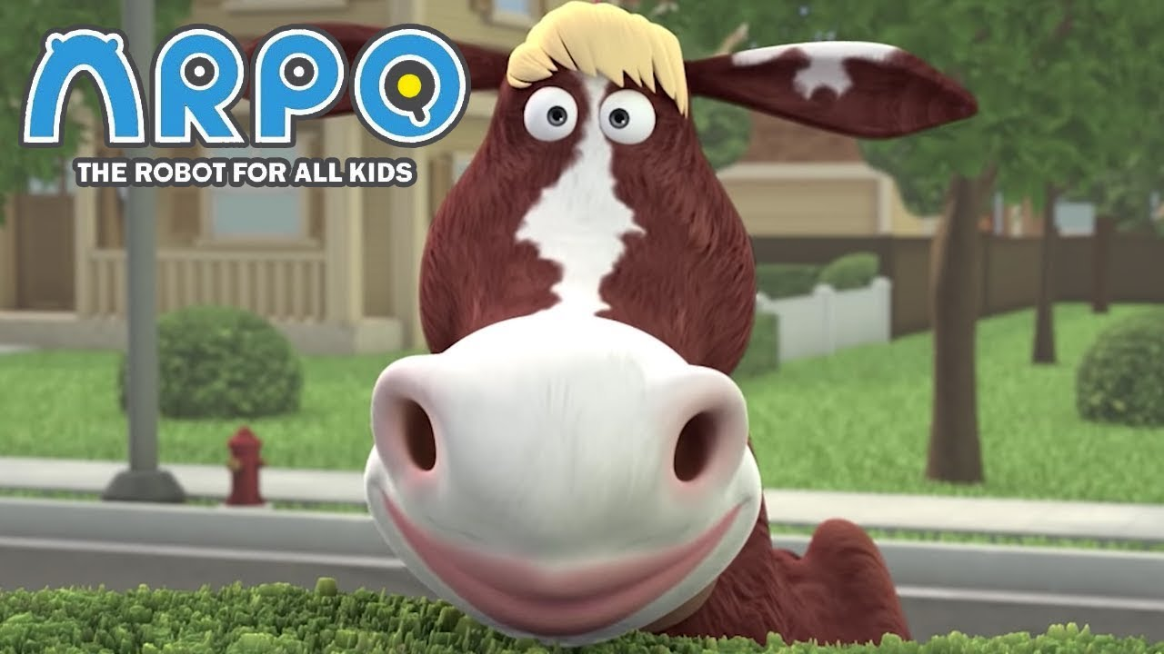 ARPO The Robot For All Kids - Crazy Cow Trouble | Compilation | Cartoon for Kids