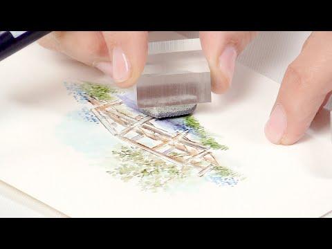 Build A Bridge Watercolor Card With Art Impressions