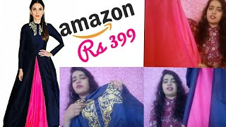 Amazon shopping review & haul || amazon gown  399rs