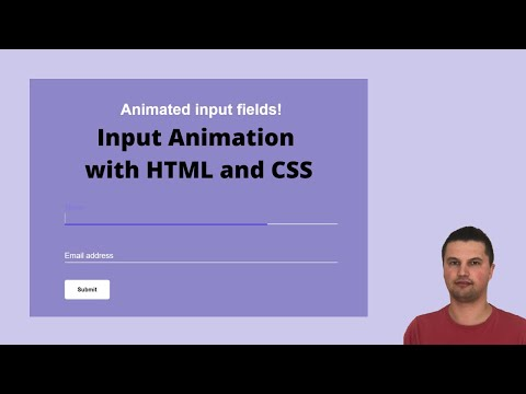 Input Animation With HTML And CSS  Design Trend In 2020