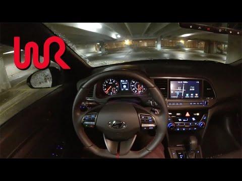 2017 Hyundai Elantra Sport DCT POV Night Drive Binaural Audio