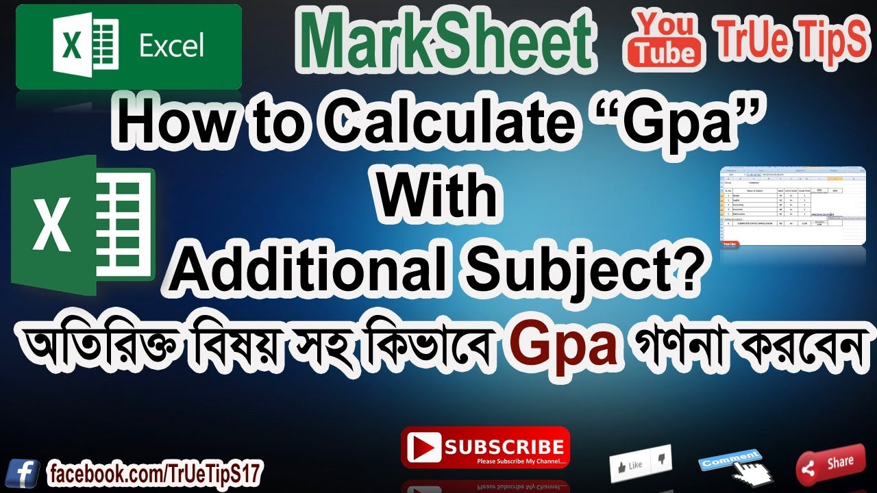How to calculate gpa for college - How To Calculate Gpa With Aditional Subject