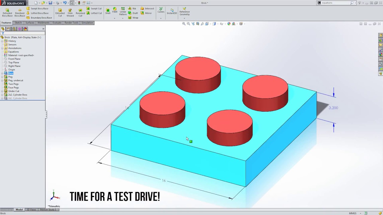 a8c43e02f04 Video Tech Tip: Using Equations to Suppress Features in the Equations  Dialogue Box in SOLIDWORKS