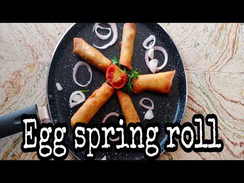 Evening snack( Crispy egg spring roll)
