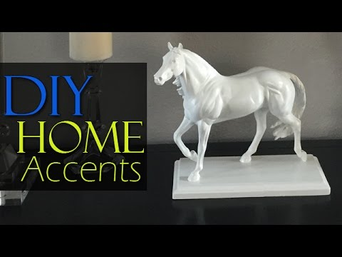 Diy High End Inspired White Horse Statue Home Decor