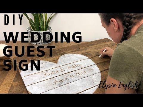 DIY Wood Wedding Sign Board | How To Make A Wedding Guest book |  Wedding Decor  Tutorial