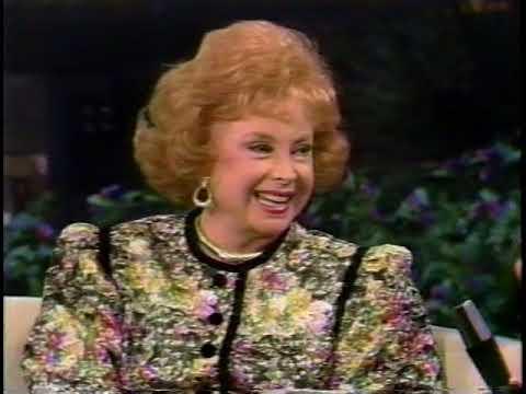 "AUDREY MEADOWS (of Jackie Gleason's ""Honeymooners"" fame) ON PAT SAJAK SHOW, 1989"