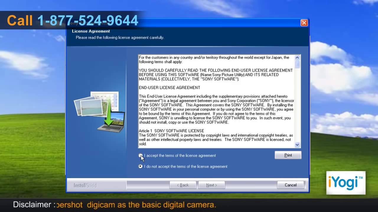 Install Sony® Cyber-shot camera driver on a PC