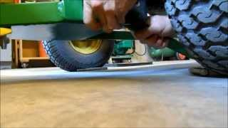 Installing a 42 Inch Snow Blade on a John Deere