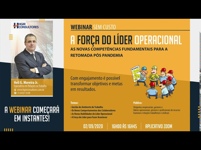Webinar - A Força do Líder Operacional