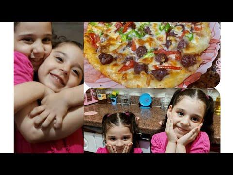 صورة  طريقة عمل البيتزا طريقة عمل بيتزا مع اصغر شيف فى مصر،👍😋😋😋 طريقة عمل البيتزا من يوتيوب