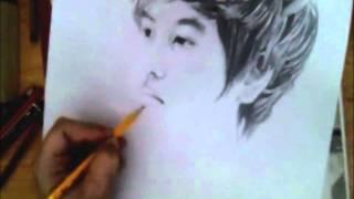 KyuHyun pencil Drawing 2