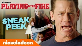 Playing With Fire 🔥 'Exclusive Sneak Peek' w/ John Cena | Nick