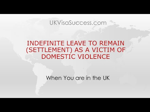 Indefinite Leave to Remain (Settlement in the UK) as a Victi