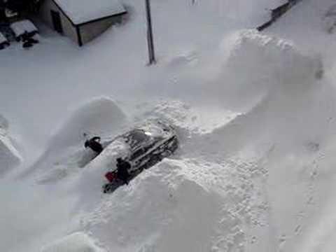 Tempete de neige a Sherbrooke 14/02/07
