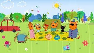 Три кота Пикник - Серия 1 | Мультик для малышей 2020 года | Помогаем Папе коту 🐱😻🐱
