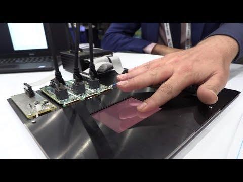 Holst Centre IMEC fingerprint sensor in display, organic photodiode frontplane, IGZO backplane