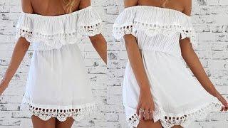 Платья с открытыми плечами, платье без плеч как сшить