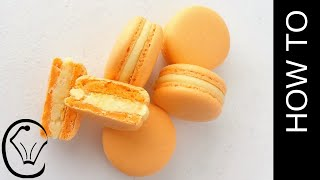 Mango French Macarons No Resting Needed by Cupcake Savvy