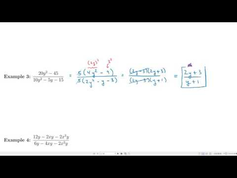 MTH 111 - Lecture 24 - Rational Expressions and Reducing to Lowest Terms